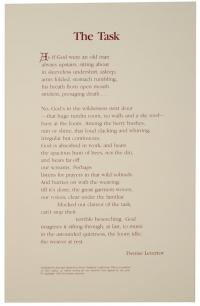 Broadside, By Denise Levertov